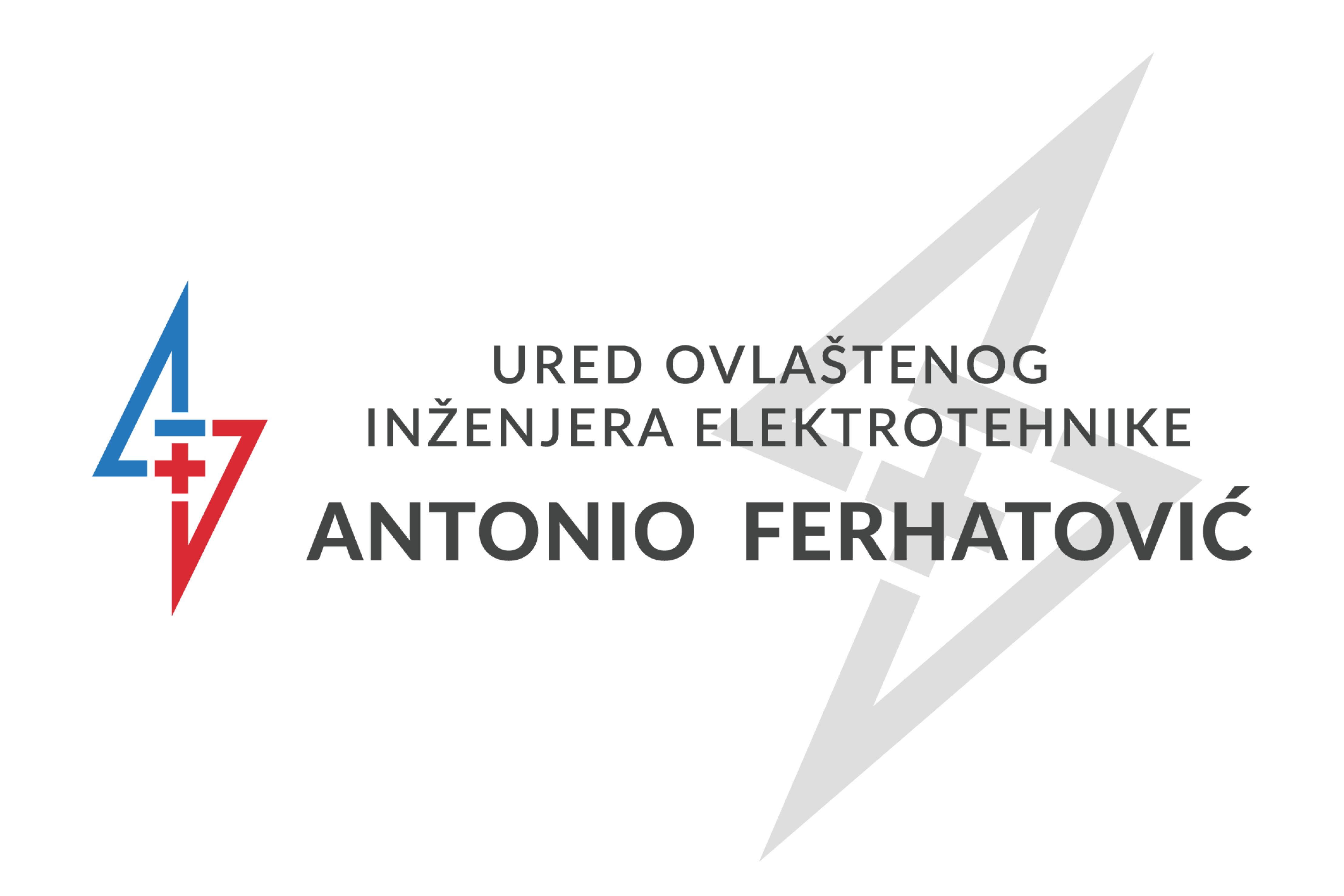 Logo: Ured ovlaštenog inženjera elektrotehnike Antonio Ferhatović